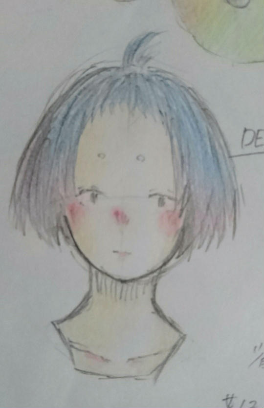 おしゃれな髪型 塾の休み時間に描いた落書き。
