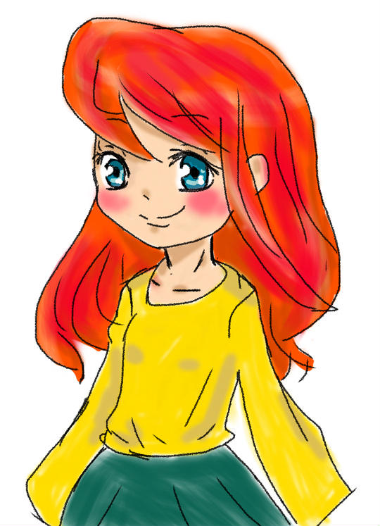 アリエルの髪型と色意識。プリンセスなら、私はアリエルとベルが好きです