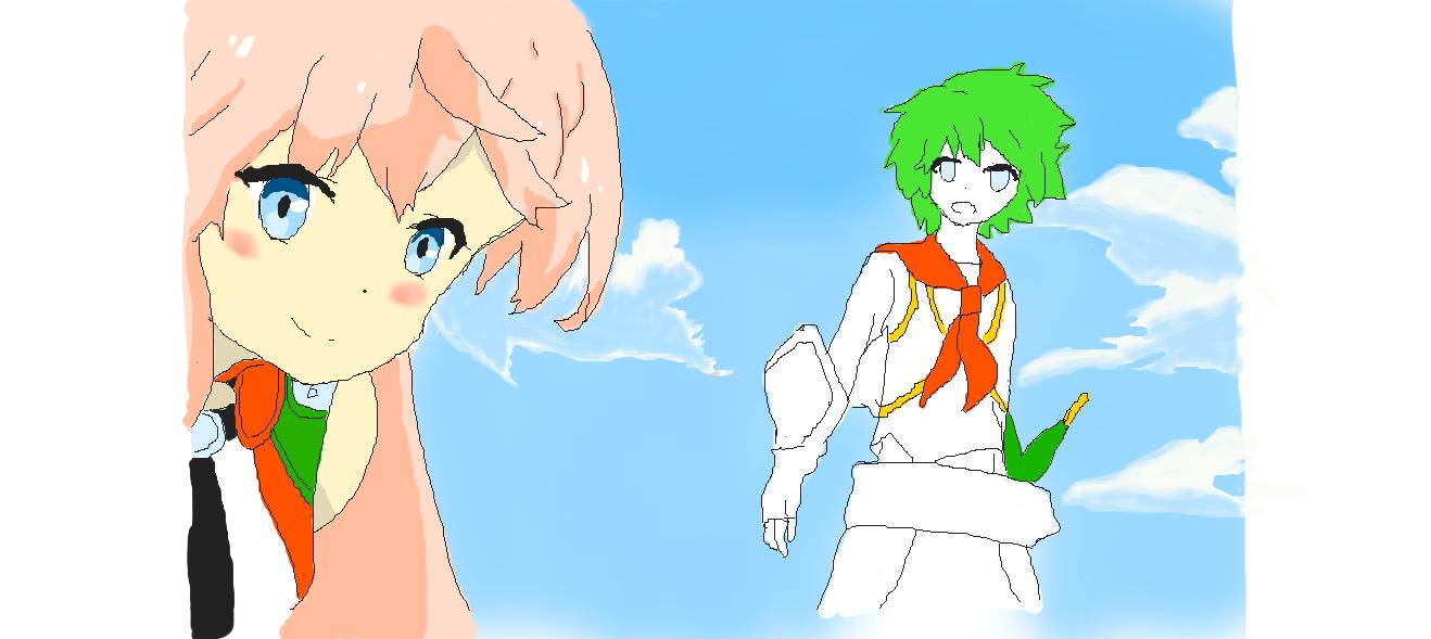 すまん、ハルくん。お姉さん先に描いたら、キミは何だかどうでもよくなった(笑)