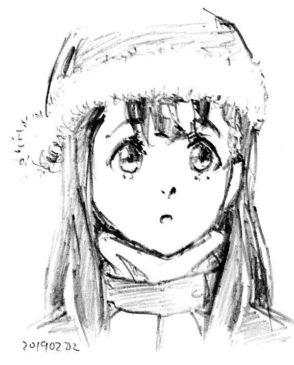 ハイスピード #よりもい 10話。昭和基地でファンを見つけた結月ちゃん。ブログにぱぱっと描いた絵を載せようとやってみましたが模写しかできませんでした。残りあと3話(最終回でやめるとは言ってない)。